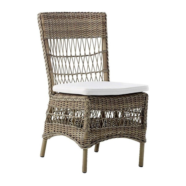 Marie Side Chair by Sika in Antique with Cushion