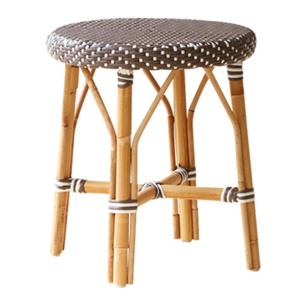 Simone Dining Stool by Sika in Cappuccino with White Dots