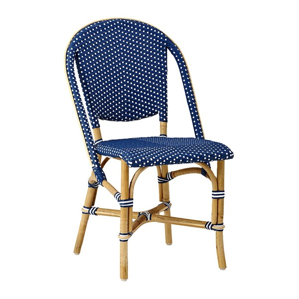 Sofie Side Chair by Sika Navy Blue with White Dots