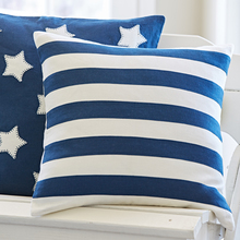Rugby Indigo and Cream Pillow