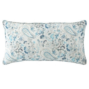 Ines linen blue lumbar pillow
