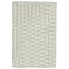 Lattice Ocean Woven Cotton Rug by Dash & Albert