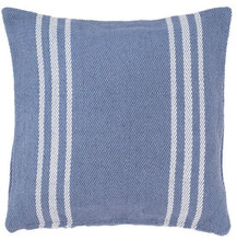 Denim/white Lexington pillow