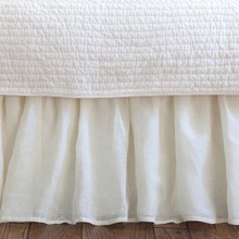 Linen Voile Cream bed skirt