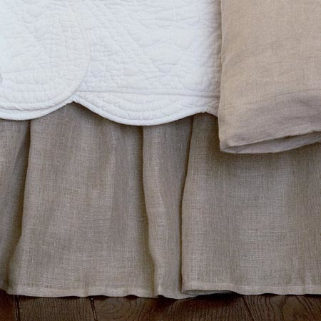 Natural Linen Voile Bed skirt