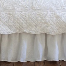 Linen Voile White bed skirt