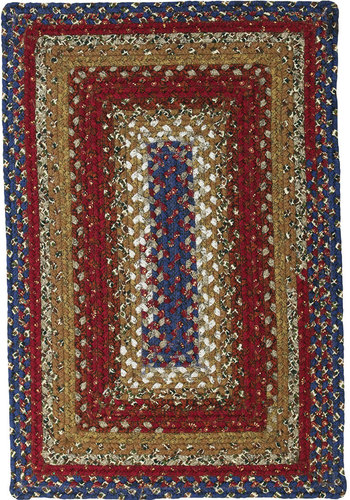 Log Cabin Cotton Braided Rug American