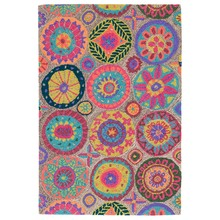 Merry Go Round Bright Micro-Hooked Wool Rug