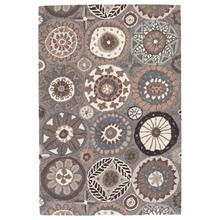 Merry Go Round Neutral Micro-Hooked Wool Rug