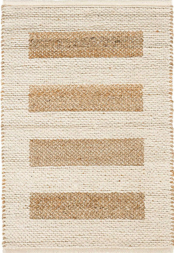Milo Ivory Woven Cotton Jute Rug By