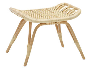 Monet rattan footstool natural
