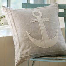natural anchor porch pillow