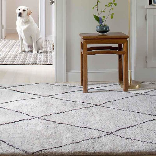 Numa Charcoal Knotted Wool Rug by Dash