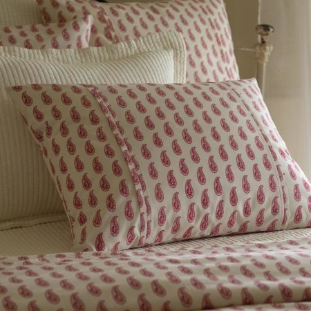 Paisely Red Standard Sham