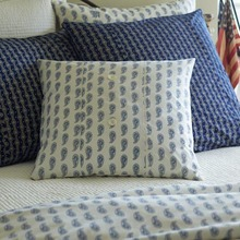 Paisley Indigo Porch Pillow