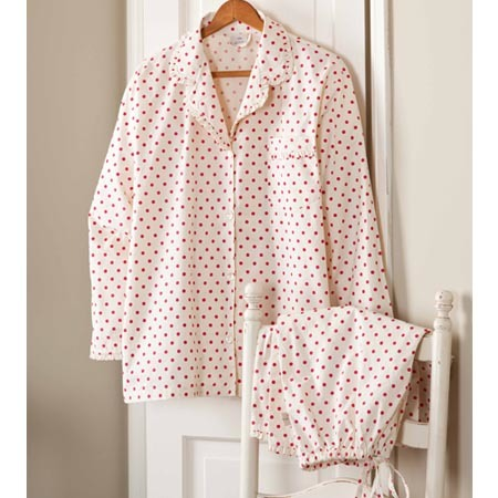 red polka dot pajamas