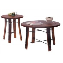 round stave coffee/end table set