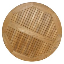 Round Teak table top