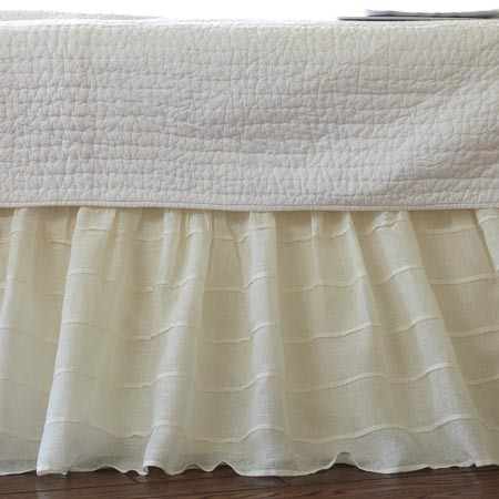 Taylor Linens Tucked Cream Bed Skirt