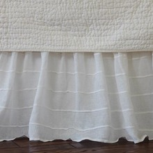Tucked White bed skirt