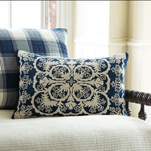Waikoloa Indigo Embroidered pillow