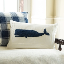 whale white pillow
