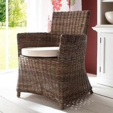 Bishop rattan arm chair in room setting