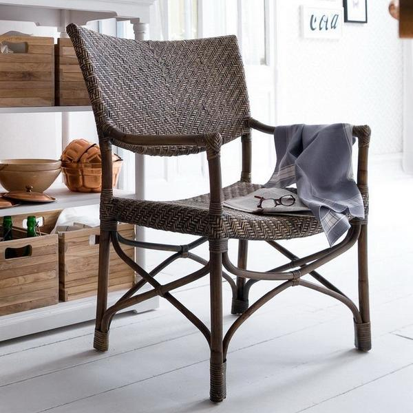 Squire wicker arm chairs