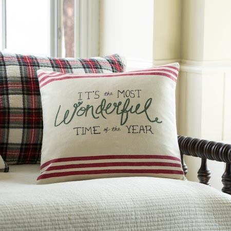 wonderful time of the year canvas pillow