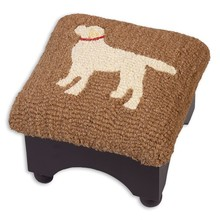 Yellow lab foot stool