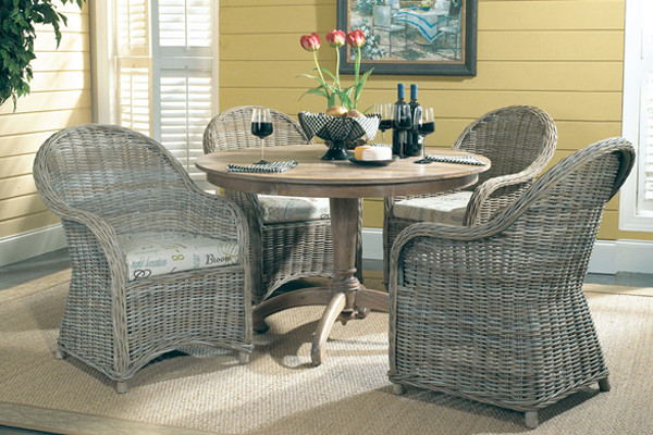 Wicker furniture dinning set