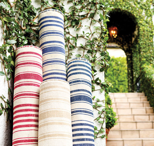 A variety of stripe rugs and colors